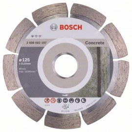 Teemantlõikeketas Bosch PROFESSIONAL FOR CONCRETE; 125 mm