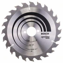 Saeketas puidule Bosch OPTILINE WOOD; 190x2,6x30,0 mm; Z24; 15°