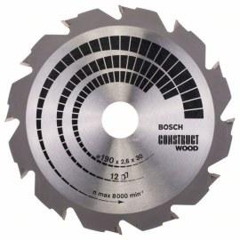 Saeketas puidule Bosch CONSTRUCT WOOD; 190x2,6x30,0 mm; Z12; 12°