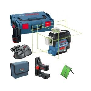 Lasernivelliir Bosch GLL 3-80 CG + Universaalkinnitus BM 1 + Kandekohver L-Boxx Lazer