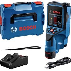 Metalli-ja puudetektor Bosch D-Tect 200 C; 12 V; 1x2,0 Ah aku