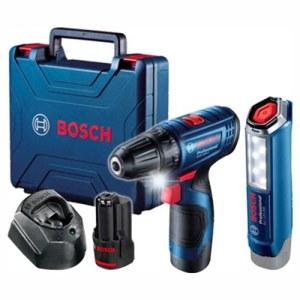 Trell-kruvikeeraja Bosch GSR 120-Li; 12 V; 2x2,0 Ah aku + Taskulamp GLI 12V-300