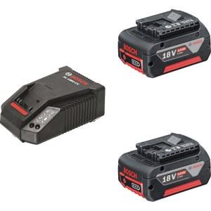 Tarvikute komplekt Bosch GBA 18 V-Li 2x4,0 Ah aku + Akulaadija AL1860