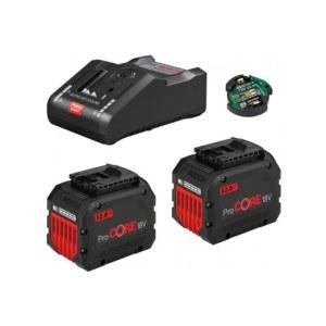 Tarvikute komplekt Bosch GBA ProCORE 18 V; 2x12,0 Ah aku + laadija GAL 18V-160C + moodul GCY 42