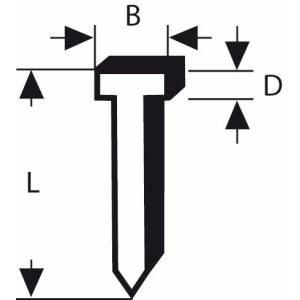 Naelad Bosch; 1,8x1,45x14 mm; 1000 tk.; tüüp 48