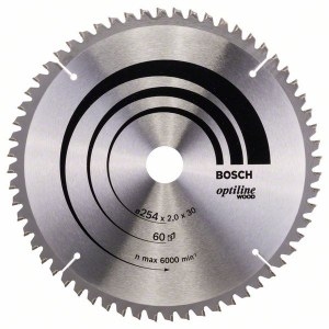 Saeketas puidule Bosch OPTILINE WOOD; 254x2x30,0 mm; Z60; -5°