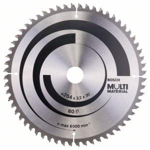 Saeketas puidule Bosch MULTI MATERIAL; 254x3,2x30,0 mm; Z60; -5°
