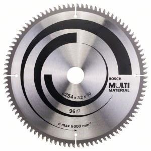 Saeketas puidule Bosch MULTI MATERIAL; 254x3,2x30,0 mm; Z96; -5°