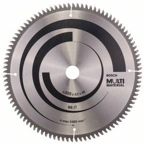Saeketas puidule Bosch MULTI MATERIAL; 305x3,2x30,0 mm; Z96; -5°