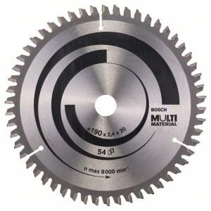 Saeketas puidule Bosch MULTI MATERIAL; 190x2,4x20,0 mm; Z54; -5°
