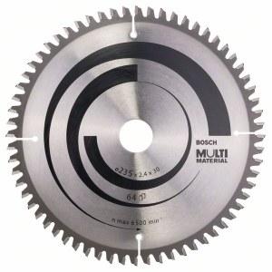 Saeketas puidule Bosch MULTI MATERIAL; 235x2,4x30,0 mm; Z64; -5°