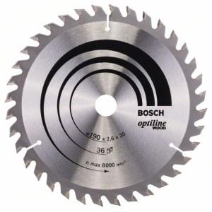 Saeketas puidule Bosch OPTILINE WOOD; 190x2,6x20,0 mm; Z36; 15°