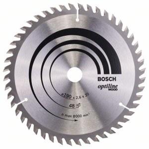 Saeketas puidule Bosch OPTILINE WOOD; 190x2,6x20,0 mm; Z48; 15°