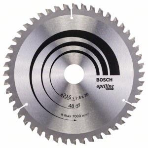 Saeketas puidule Bosch OPTILINE WOOD; 216x2,8x30,0 mm; Z48; -5°