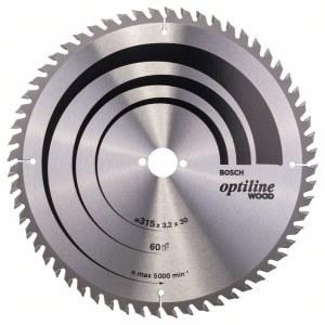 Saeketas puidule Bosch OPTILINE WOOD; 315x3,2x30,0 mm; Z60; 10°