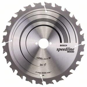 Saeketas puidule Bosch SPEEDLINE WOOD; 250x3,2x30,0 mm; Z24; 15°