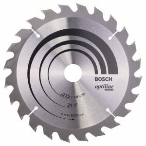 Saeketas puidule Bosch OPTILINE WOOD; 235x2,8x30,0 mm; Z24; 15°