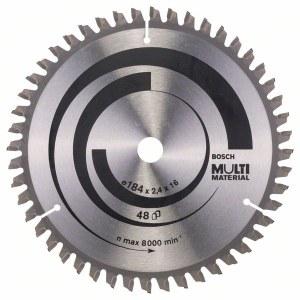 Saeketas puidule Bosch MULTI MATERIAL; 184x2,4x16,0 mm; Z48; -5°