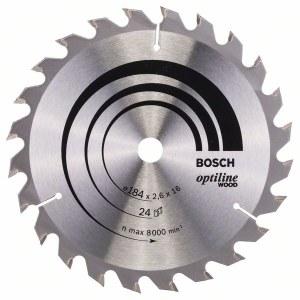 Saeketas puidule Bosch OPTILINE WOOD; 184x2,6x16,0 mm; Z24; 15°