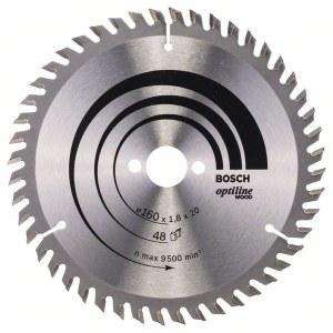 Saeketas puidule Bosch OPTILINE WOOD; 160x1,8x20,0 mm; Z48; 15°