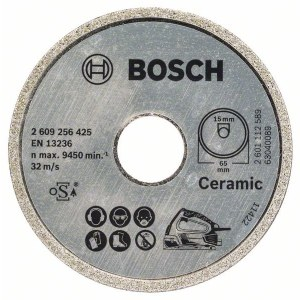 Teemantlõikeketas Bosch PKS 16 Multi Ceramics; 65 mm