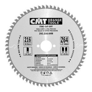 Saeketas puidule CMT 216x2,8x30; Z80; -5°