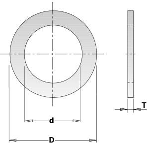 Üleminekurõngas CMT 299.213.00; 1,4x19,05x25,4 mm