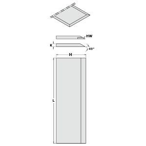 Höövli terad CMT 792.501.35; 500x3x35 mm; 2 tk