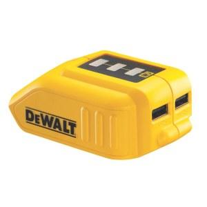 Aku adapter DeWalt DCB090 10,8 - 18 V -> USB (x2); Telefoni akude laadimiseks