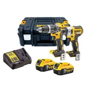 Tööriistakomplekt DeWalt DCK266P2T-QW (DCD796 + DCF887); 18 V; 2x5,0 Ah aku