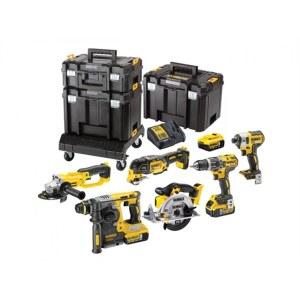 Tööriistakomplekt Dewalt DCK654P3T (DCD796+DCF887+DCG412+DCS355+DCS391+DCB273); 18 V; 3x5,0 Ah aku