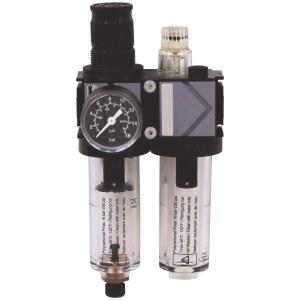 Õhufilter regulaatori ja õlitusega EWO Variobloc; 1/2''