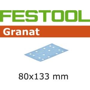 Lihvpaber vibrolihvmasinatele Granat; 80x133 mm; P80; 10 tk