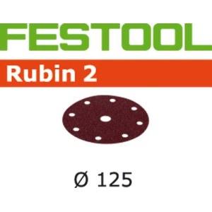 Lihvpaber ekstsentriklihvmasinatele Rubin2; 125 mm; P180; 10 tk