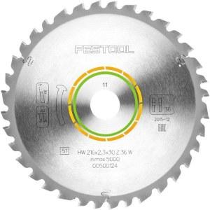 Saeketas puidule Festool; 216x2,3x30,0 mm; Z36; -5°