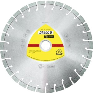 Teemantlõikeketas kuivlõikamiseks Klingspor DT 600 U Supra; 300x2,8x25,4 mm