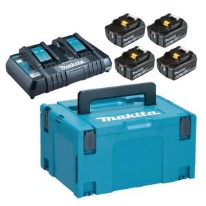 Tarvikute komplekt Makita Powerpack; 18V; 4x6,0 Ah + DC18RD
