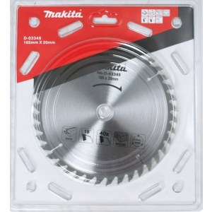 Saeketas puidule Makita; 165x2x20,0 mm; Z40; 18°