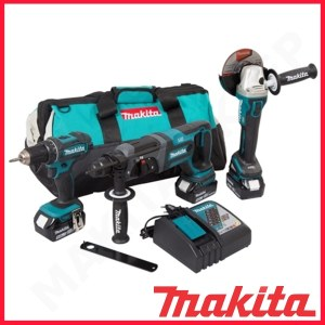 Tööriistakomplekt Makita DLX3078TX1 (DGA504 + DHR241 + DDF482); 18 V; 3x5,0 Ah aku