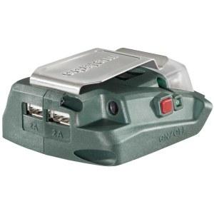 USB pesaga adapter Metabo PA 14,4 – 18 V -> USB (x2); Telefoni akude laadimiseks