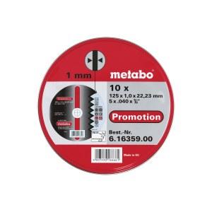 Abrasiiv lõikeketas Metabo 616359000; 125x1,0 mm; 10 tk.; metall
