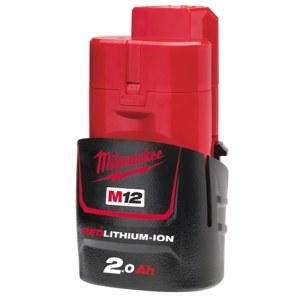 Aku Milwaukee M12B2; 12 V; 2,0 Ah; Li-Ion