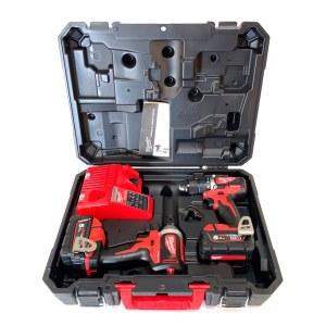 Tööriistakomplekt Milwaukee M18 CBLPP2B-502C; 18 V; 2x5,0 Ah aku