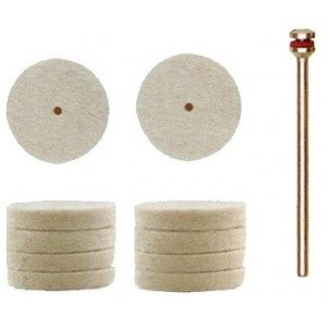 Lambavillast poleerimisketas Proxxon; 22 mm; 10 tk