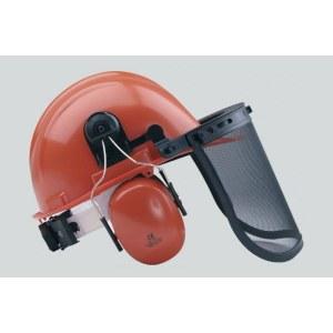 Kaitsekiiver 6-888 näovisiiriga ja kõrvaklappidega