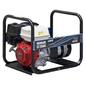 Vahelduvvoolu generaator SDMO HXC6000-C5; 5,6 kW; bensiinimootoriga + Õli