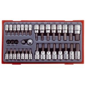Padrunite ja otsikute komplekt Teng Tools TTBS35; tk